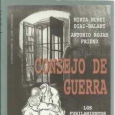 Libros antiguos: CONSEJO DE GUERRA. LOS FUSILAMIENTOS EN EL MADRID DE LA POSGUERRA (1939-1945) MIRTA NÚÑEZ DÍAZ BALAR. Lote 194908392