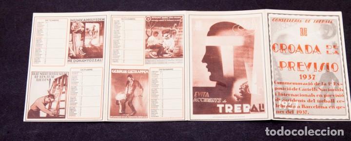 Libros antiguos: CONSELLERIA DE TREBALL - CROADA DE LA PREVISIÓ. 1937. 1ª EXPOSICIÓ DE CARTELLS ACCIDENTS DE TREBALL - Foto 3 - 195001473