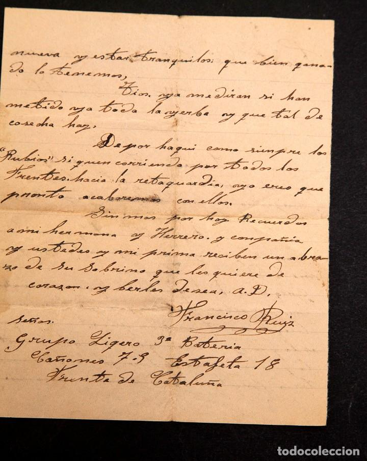 Libros antiguos: CARTA FRENTE DE CATALUÑA 1938 - GUERRA CIVIL - Foto 3 - 195073278