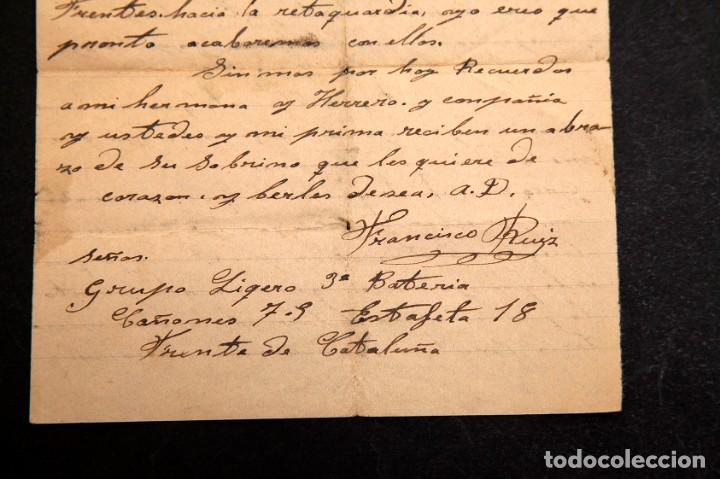 Libros antiguos: CARTA FRENTE DE CATALUÑA 1938 - GUERRA CIVIL - Foto 4 - 195073278