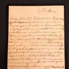 Libros antiguos: CARCEL DE MUJERES DE SATURRARAN - CARTA DE PRESA 1939 - GUERRA CIVIL. Lote 195073565