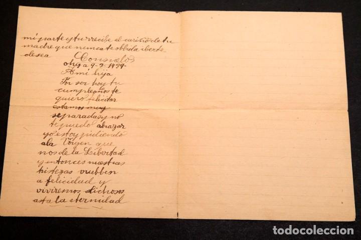 Libros antiguos: CARCEL DE MUJERES DE SATURRARAN - CARTA DE PRESA 1939 - GUERRA CIVIL - Foto 3 - 195073565