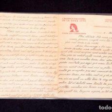 Libros antiguos: CARTA GUERRA CIVIL MANUSCRITA 1938 - REPUBLICANA - ALIANÇA NACIONAL DE LA DONA JOVE. Lote 195073890
