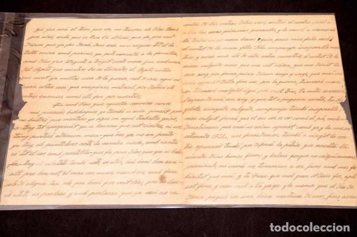 Libros antiguos: CARTA GUERRA CIVIL MANUSCRITA 1938 - REPUBLICANA - ALIANÇA NACIONAL DE LA DONA JOVE - Foto 3 - 195073890