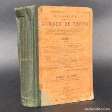 Libros antiguos: MANUAL PARA LAS CLASES DE TROPA - GRABADOS - GUERRA CIVIL - EJERCITO - CABO - SOLDADO. Lote 195447688
