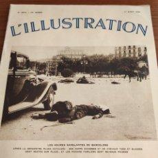 Libros antiguos: L'ILLUSTRATION. GUERRA CIVIL EN ESPAÑA. NUMEROSAS FOTOS. AGOSTO, 1936.. Lote 197085296
