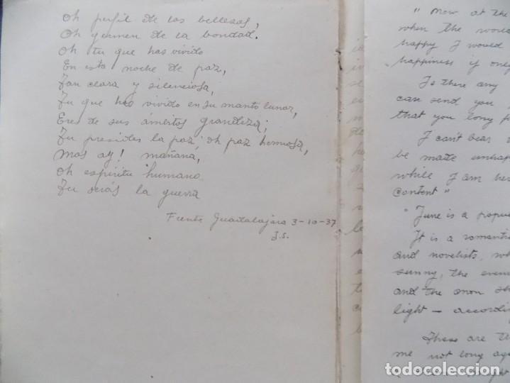 Libros antiguos: LIBRERIA GHOTICA. DIETARIO MANUSCRITO INÉDITO DE UN COMBATIENTE DEL FRENTE DE GUADALAJARA.1936-1939. - Foto 6 - 197431241