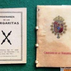Libros antiguos: ORDENANZAS LA LAS MARGARITAS. CARLISTA. 2 EJEMPLARES. CA 1930. Lote 202008622