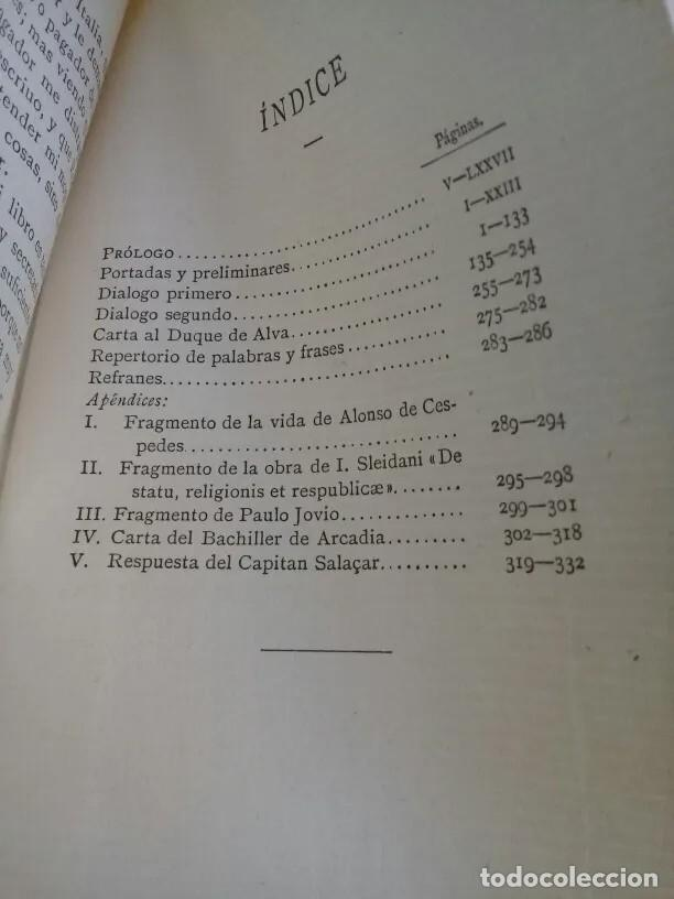 Libros antiguos: DIALOGOS DE LA VIDA DEL SOLDADO - DIEGO NUÑES DE ALBA - Foto 3 - 205754221
