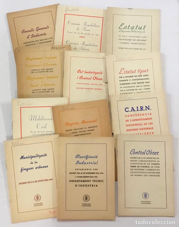 FOLLETOS LEGISLATIVOS 1936-1938 GENERALITAT DE CATALUNYA. GUERRA CIVIL. CONTROL OBRER.... (Libros antiguos (hasta 1936), raros y curiosos - Historia - Guerra Civil Española)