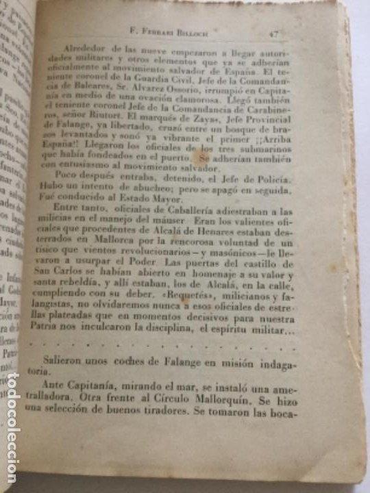 Libros antiguos: Mallorca contra los rojos - Ferrari Billoch- fracaso de los desembarcos marxistas en la isla 1936 - Foto 4 - 207726443