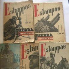 Libros antiguos: ESTAMPAS DE LA GUERRA - ALBUM N° 1 2 3 4 Y 5. Lote 207731397