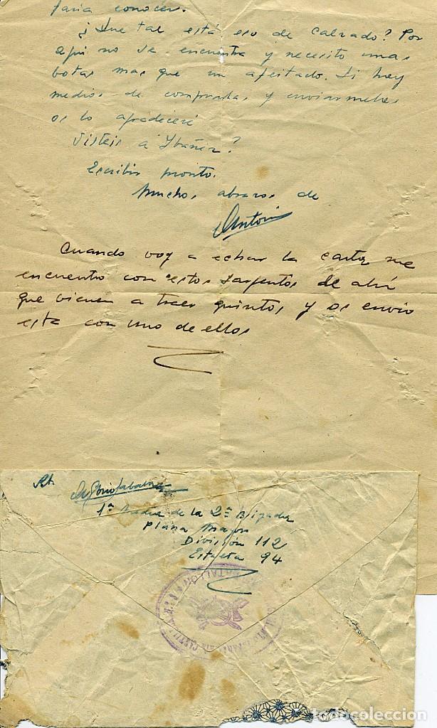 Libros antiguos: ANTOLOGÍA POÉTICA DEL ALZAMIENTO 1936-1939, con carta, sobre y tarjetón manuscritos - Foto 2 - 208235815