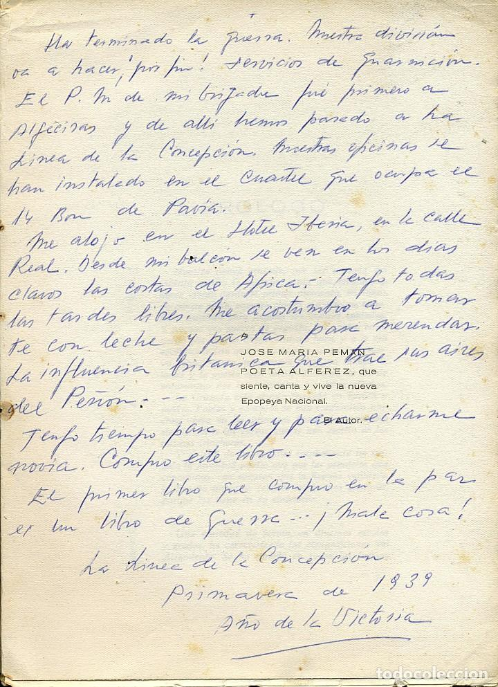 Libros antiguos: ANTOLOGÍA POÉTICA DEL ALZAMIENTO 1936-1939, con carta, sobre y tarjetón manuscritos - Foto 4 - 208235815
