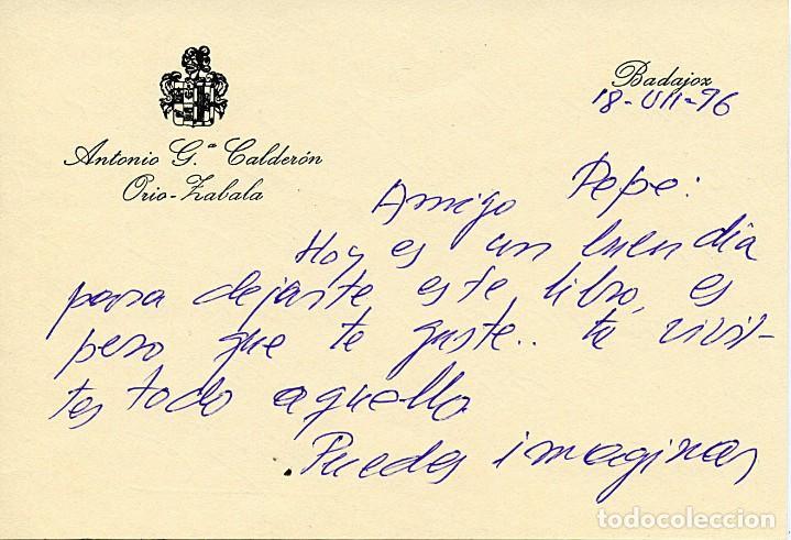 Libros antiguos: ANTOLOGÍA POÉTICA DEL ALZAMIENTO 1936-1939, con carta, sobre y tarjetón manuscritos - Foto 5 - 208235815