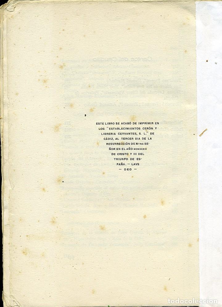 Libros antiguos: ANTOLOGÍA POÉTICA DEL ALZAMIENTO 1936-1939, con carta, sobre y tarjetón manuscritos - Foto 9 - 208235815