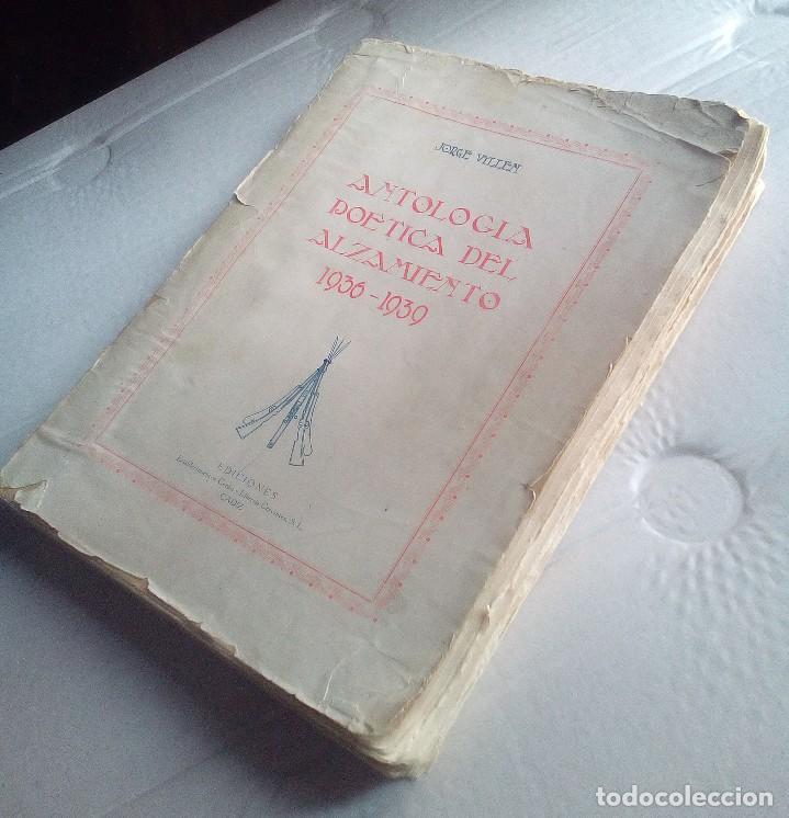 Libros antiguos: ANTOLOGÍA POÉTICA DEL ALZAMIENTO 1936-1939, con carta, sobre y tarjetón manuscritos - Foto 10 - 208235815
