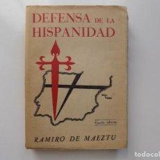 Libros antiguos: LIBRERIA GHOTICA. RAMIRO DE MAEZTU. DEFENSA DE LA HISPANIDAD. MADRID 1941.. Lote 210796702