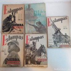 Libros antiguos: ESTAMPAS DE LA GUERRA - 5 ÁLBUMES - 1-3-4-5-6 - PROFUSAMENTE ILUSTRADO FOTOGRAFÍAS. Lote 213818088