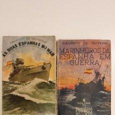 Libros antiguos: LOTE DE LIBROS DA GUERRA CIVIL EN IDIOMA PORTUGUÉS DE MAURICIO DE OLIVEIRA 1936 - 1938. Lote 214811833