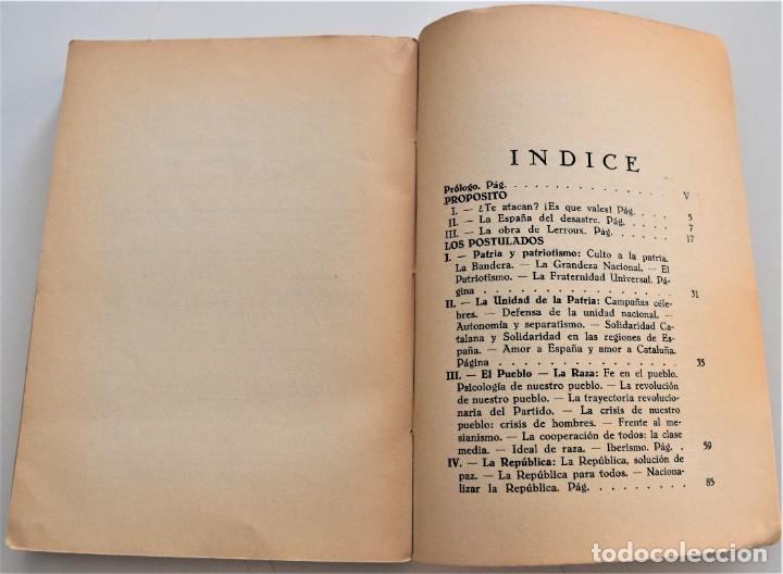 Libros antiguos: TRAYECTORIA POLÍTICA DE ALEJANDRO LERROUX - SALAZAR-ALONSO, CARMONA, ARRAZOLA - MADRID 1934 - Foto 6 - 216015965