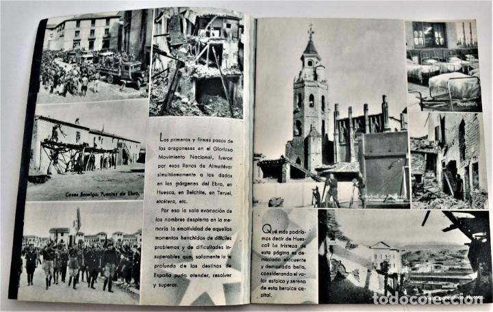 Libros antiguos: ESTAMPAS DE LA GUERRA. 5º CUERPO DEL EJERCITO. ZARAGOZA DICIEMBRE 1937 AÑO TRIUNFAL. - Foto 4 - 216016972