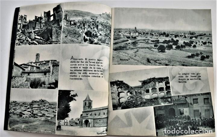 Libros antiguos: ESTAMPAS DE LA GUERRA. 5º CUERPO DEL EJERCITO. ZARAGOZA DICIEMBRE 1937 AÑO TRIUNFAL. - Foto 5 - 216016972