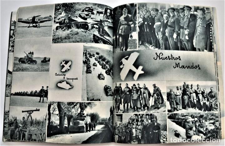 Libros antiguos: ESTAMPAS DE LA GUERRA. 5º CUERPO DEL EJERCITO. ZARAGOZA DICIEMBRE 1937 AÑO TRIUNFAL. - Foto 6 - 216016972