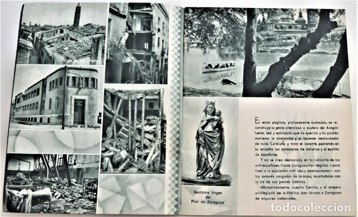 Libros antiguos: ESTAMPAS DE LA GUERRA. 5º CUERPO DEL EJERCITO. ZARAGOZA DICIEMBRE 1937 AÑO TRIUNFAL. - Foto 4 - 216017046
