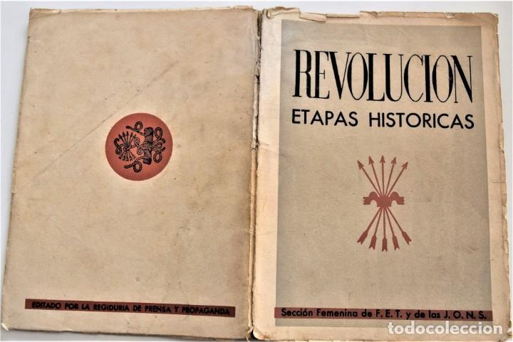 Libros antiguos: ETAPAS HISTÓRICAS DE LA REVOLUCIÓN NACIONAL-SINDICALISTA - EDITADO POR LA REGIDURA DE PROPAGANDA - Foto 2 - 216018457