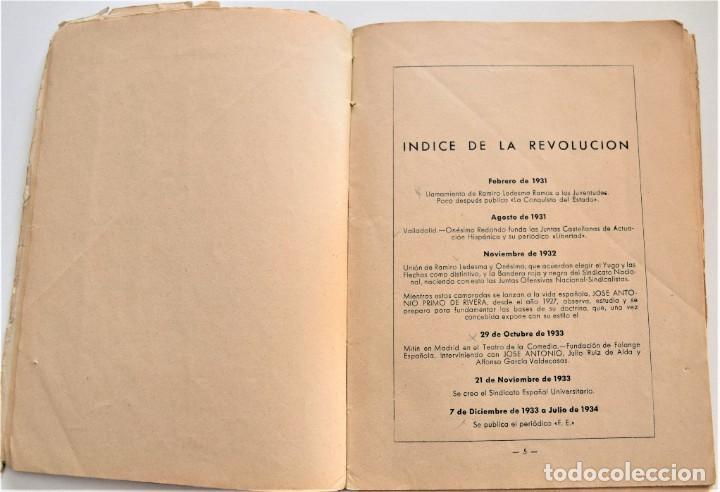 Libros antiguos: ETAPAS HISTÓRICAS DE LA REVOLUCIÓN NACIONAL-SINDICALISTA - EDITADO POR LA REGIDURA DE PROPAGANDA - Foto 4 - 216018457