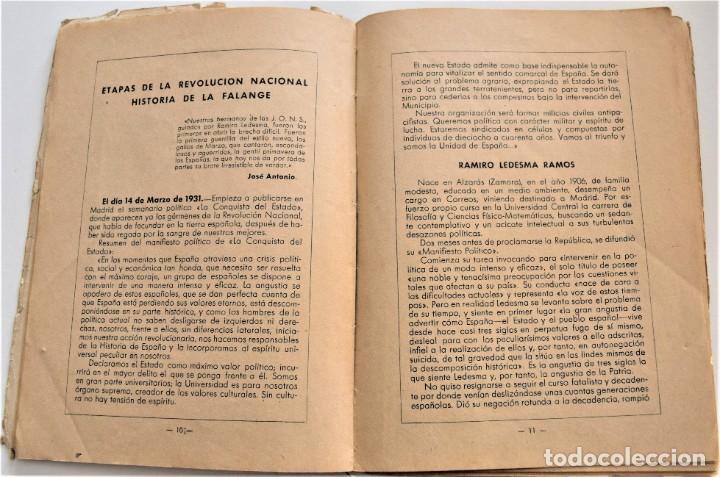 Libros antiguos: ETAPAS HISTÓRICAS DE LA REVOLUCIÓN NACIONAL-SINDICALISTA - EDITADO POR LA REGIDURA DE PROPAGANDA - Foto 6 - 216018457