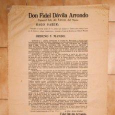 Libros antiguos: DON FIDEL DAVILA ARRONDO - 1939. Lote 217616417