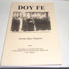 Libros antiguos: DOY FE. Lote 220936842