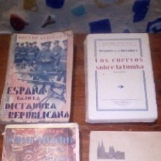 Livros antigos: 4 LIBROS DEL DOCTOR ALBIÑANA FUNDADOR DEL PARTIDO NACIONALISTA ESPAÑOL CONFINADO EN LAS HURDES Y 3. Lote 238731150
