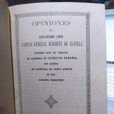 Libros antiguos: OPINIONES DEL SR. CAPITAN GENERAL MARQUES DE ESTELLA. ED. COL. HUERFANOS, GUADALAJARA, 1919. Lote 240900360