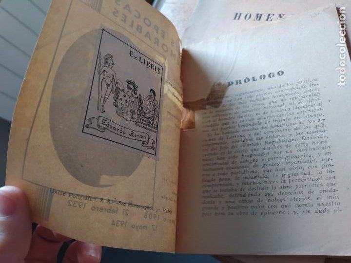 Libros antiguos: Guerra civil. Tres épocas memorables, Partido republicano Radical. Recop. Bernardo Izcaray. 1934 - Foto 5 - 240979130