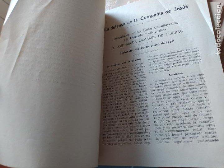 Libros antiguos: Tradicionalismo. En defensa de la Compañia de Jesus Varios autores, imp. El siglo futuro 1932 - Foto 3 - 240979310
