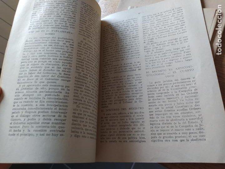 Libros antiguos: Tradicionalismo. En defensa de la Compañia de Jesus Varios autores, imp. El siglo futuro 1932 - Foto 4 - 240979310