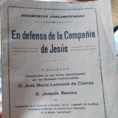 Libros antiguos: TRADICIONALISMO. EN DEFENSA DE LA COMPAÑIA DE JESUS VARIOS AUTORES, IMP. EL SIGLO FUTURO 1932. Lote 240979310