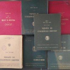 Libros antiguos: LOTE, LIBROS DE CENSOS Y ANUARIOS DE ESPAÑA, AÑOS 30, TODOS EN BUEN ESTADO.. Lote 241855850