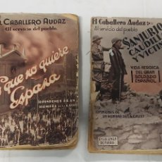 """Libros antiguos: DOS EJEMPLARES DE """"EL CABALLERO AUDAZ"""" – DICIEMBRE Y ENERO 1932. Lote 271085488"""