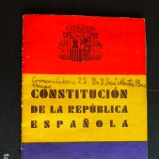 Libros antiguos: CONSTITUCION DE LA REPUBLICA ESPAÑOLA 1931. Lote 287640108