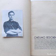 Libros antiguos: LIBRERIA GHOTICA. ONÉSIMO REDONDO.CAUDILLO DE CASTILLA.DIBUJOS DE STEFANO FRANK.ED. LIBERTAD 1937.. Lote 288225908