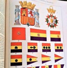 Libros antiguos: REPUBLICA ESPAÑOLA,LIBRO DEDICADO A ESPAÑA.UNIFORMES,MONEDAS,CONDECORACIONES,MAPAS,HISTORIA,1935. Lote 295492303