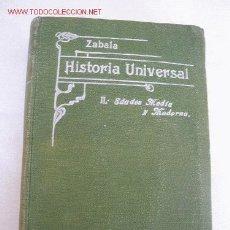 Libros antiguos: COMPENDIO DE HISTORIA UNIVERSAL, TOMO II- MANUEL ZABALA URDANIZ-MAD.- 1916- EST. TIP. DE JAIME RATÉS. Lote 15913411