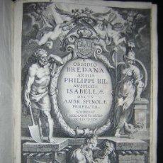 Libros antiguos: 1626 - HERMANNUS - OBSIDIO BREDANA ARMIS PHILIPPI IIII - SOBRE LA TOMA DE BREDA - 13 LÁMINAS - FOLIO. Lote 27456959