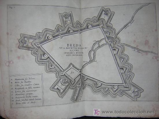 Libros antiguos: 1626 - HERMANNUS - OBSIDIO BREDANA ARMIS PHILIPPI IIII - SOBRE LA TOMA DE BREDA - 13 LÁMINAS - FOLIO - Foto 5 - 27456959