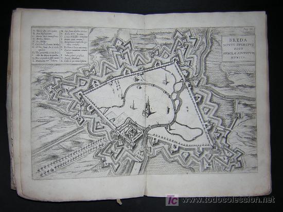 Libros antiguos: 1626 - HERMANNUS - OBSIDIO BREDANA ARMIS PHILIPPI IIII - SOBRE LA TOMA DE BREDA - 13 LÁMINAS - FOLIO - Foto 6 - 27456959