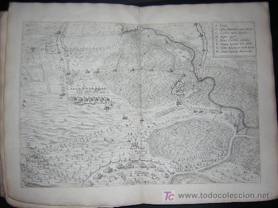 Libros antiguos: 1626 - HERMANNUS - OBSIDIO BREDANA ARMIS PHILIPPI IIII - SOBRE LA TOMA DE BREDA - 13 LÁMINAS - FOLIO - Foto 9 - 27456959